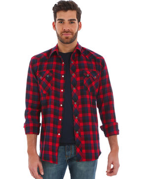 Wrangler Men's Assortment Flannel Long Sleeve Shirts , Multi, hi-res