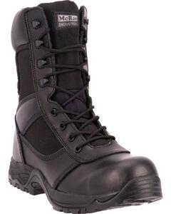 "McRae Industrial Men's Black 8"" Lace-Up Work Boots - Composite Toe, , hi-res"
