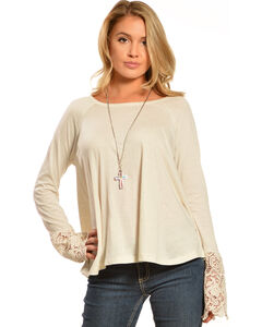 Black Swan Women's Drizzle Long Sleeve Lace Top, , hi-res