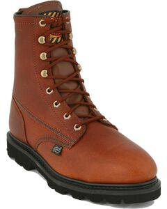 "Justin Premium 8"" Lace-Up Work Boots - Steel Toe, , hi-res"