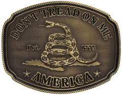 Montana Silversmiths American Gadsden Don't Tread On Me Heritage Attitude Belt Buckle, , hi-res