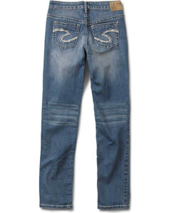 Silver Girls' Sasha Skinny Jeans - 4-6X, Denim, hi-res