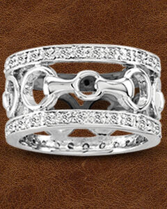 Kelly Herd Sterling Silver Wide Band Bit Ring, , hi-res