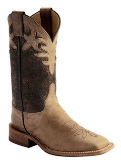 Justin Bent Rail Metallic Cowgirl Boots - Square Toe, , hi-res