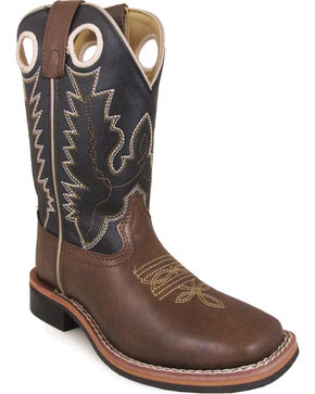Smoky Mountain Youth Boys' Blaze Kid Western Boot - Square Toe, Brown, hi-res