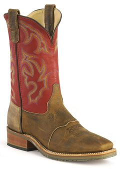 Double H ICE Saddle Vamp Work Roper Boots - Square Toe, , hi-res