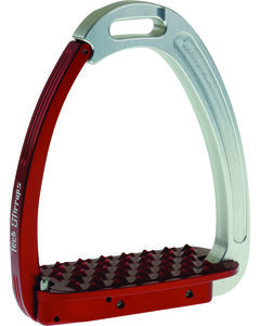 Tech Stirrups Silver and Red Tech Venice Stirrups, , hi-res