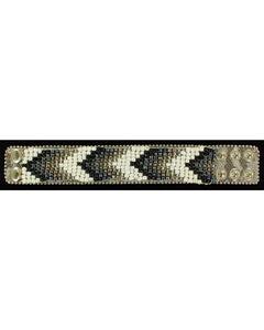 Blazin Roxx Beaded Chevron Cuff Bracelet, , hi-res