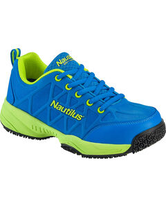 Nautilus Women's Blue and Green Athletic Work Shoes - Composite Toe , Blue, hi-res
