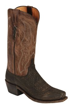 Lucchese Handcrafted 1883 Sanded Shark Cowboy Boots - Snip Toe, , hi-res