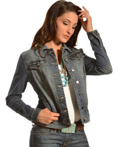 Kut from the Kloth Women's Cropped Denim Jacket, , hi-res