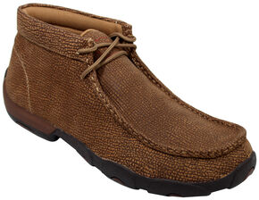 Twisted X Men's Distressed Grain Driving Mocs, Distressed, hi-res
