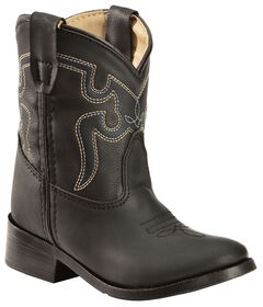 Swift Creek Toddler Boys' Black Cowboy Boots - Round Toe, , hi-res
