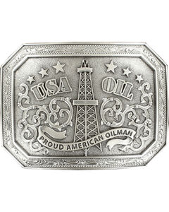 "Nocona  ""USA OIL proud american oilman"" buckle, , hi-res"