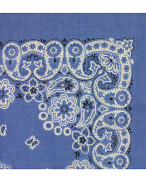 M & F Western Denim Paisley Print Bandana , No Color, hi-res