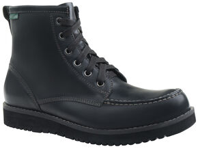 Eastland Men's Black Harrison Moc Toe Boots, Black, hi-res