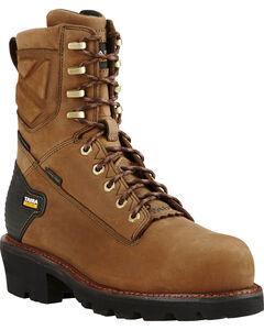 "Ariat Men's Brown Powerline H20 400g 8"" Work Boots - Composite Toe, , hi-res"