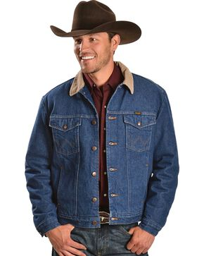 Wrangler Blanket Lined Denim Jacket, Denim, hi-res