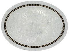 Montana Silversmiths Wheat & Golden Star Oval Belt Buckle, , hi-res