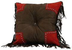 HiEnd Accents Tooled & Scalloped Decorative Pillow, , hi-res