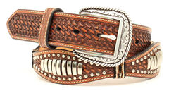 Ariat Scalloped Bullet Concho Belt, , hi-res