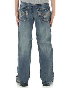 Wrangler Rock 47 Boys' Slim Bootcut Jeans, Indigo, hi-res