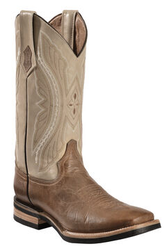 Ferrini Distressed Kangaroo Cowboy Boots - Wide Square Toe, , hi-res