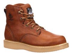 "Georgia Men's 6"" Barracuda Gold Wedge Work Boots - Steel Toe , , hi-res"