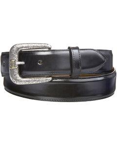 Lucchese Men's Smooth Black Goat Leather Belt, , hi-res