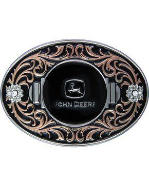 John Deere Two-Tone with Copper Flourish Attitude Buckle, Silver, hi-res