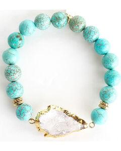 Everlasting Joy Jewelry Women's Turquoise Arrowhead Bracelet , Turquoise, hi-res