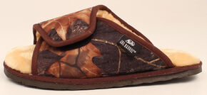 M&F Western DBL Barrel Men's Mossy Oak Slide Slippers, Camouflage, hi-res