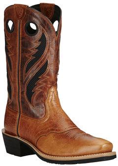 Ariat Tan Men's Venttek Heritage Roughstock Boots - Square Toe, , hi-res