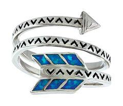 Montana Silversmiths Women's Sky Fletched Arrow Ring , , hi-res