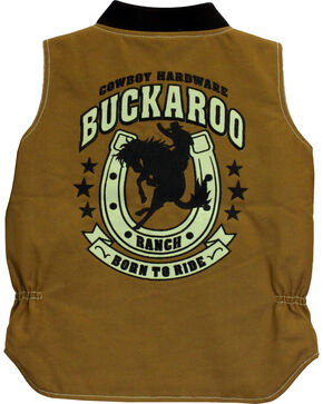 Cowboy Hardware Boys' Buckaroo Canvas Vest, Tan, hi-res