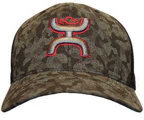 HOOey Men's Camo Chris Kyle Memorial Flexfit Hat , Camouflage, hi-res