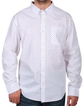 Cody James Men's Printed Long Sleeve Shirt, White, hi-res