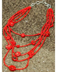 Isac West Layered Coral Stone Necklace, , hi-res