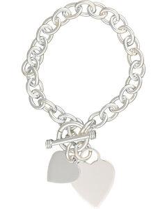 Montana Silversmiths Silhouette Hearts Toggle Charm Bracelet, , hi-res