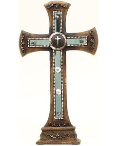 Western Moments Concho Studded Table Cross, , hi-res