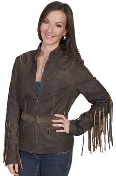 Scully Ranch Long Fringe Leather Jacket , , hi-res