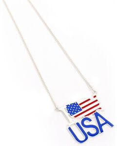 Ethel & Myrtle American Spirit Flag Necklace , , hi-res