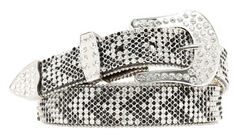 Nocona Rhinestone Embellished Arrow Belt, Black, hi-res