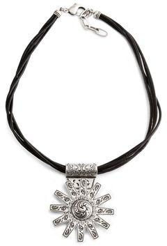 Montana Silversmiths Antique Rowel Charm Necklace, , hi-res
