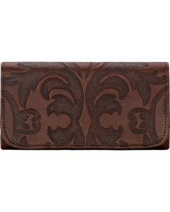 American West Chestnut Brown Baroque Tri-Fold Wallet , , hi-res
