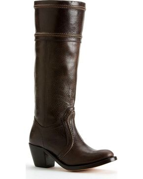 Frye Women's Jane 14L Boots - Round Toe, Dark Brown, hi-res