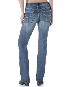 Wrangler Women's Premium Patch Mae Straight Leg Jeans, , hi-res