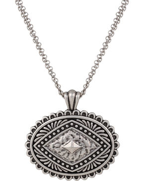 Rock 47 by Montana Silversmiths Antique Silver Concho Necklace, Antique Silver, hi-res