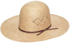 Twister 8X Sisal Open Crown Straw Cowboy Hat, , hi-res
