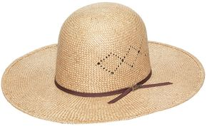 Twister 8X Sisal Open Crown Straw Cowboy Hat, Natural, hi-res